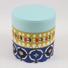Handicraft Circle Paper Box Yuzen Traditional Dyeing Paper Suzuki Shofudo A