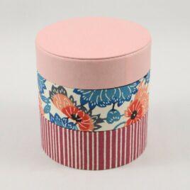 Handicraft Circle Paper Box Yuzen Traditional Dyeing Paper Suzuki Shofudo E